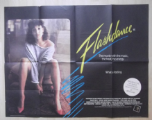 Flashdance, Original British Quad Poster, Jennifer Beals, VG-F '83